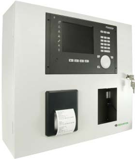 SecuriFire 2000 Basic Version, with built-in operating panel, printer and cut out for EPI devices or Ext. Zone panel