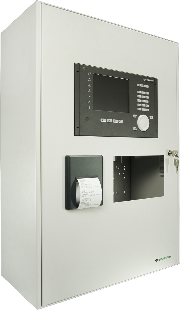 SecuriFire 3000 Basic Version, with built in panel, printer and cut out for EPI-device