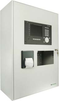 SecuriFire 3000 Basic Version, with built in panel, printer and cut out for MMI-device
