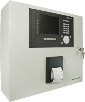 SecuriFire 2000 Basic Version, with built-in operating panel and printer